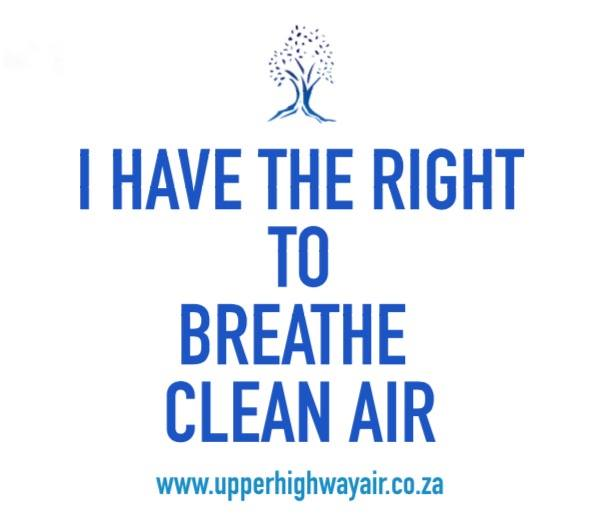I have the right to breathe clean air upper highway air